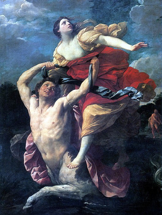 РЕНИ ГВИДО - Деянира, похищаемая кентавром Нессом, 1620-1621.. Лувр (Париж)
