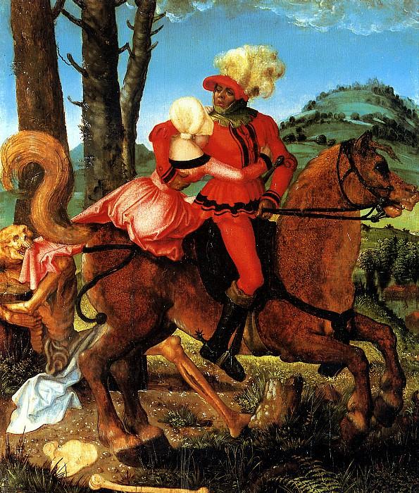 БАЛЬДУНГ ГРИН ХАНС - Рыцарь, девушка и Смерть.. Louvre (Paris)