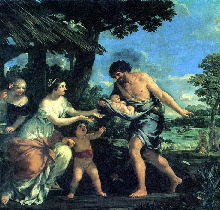 КОРТОНА ПЬЕТРО ДА - Нахождение Ромула и Рема Фаустулом.. Louvre (Paris)