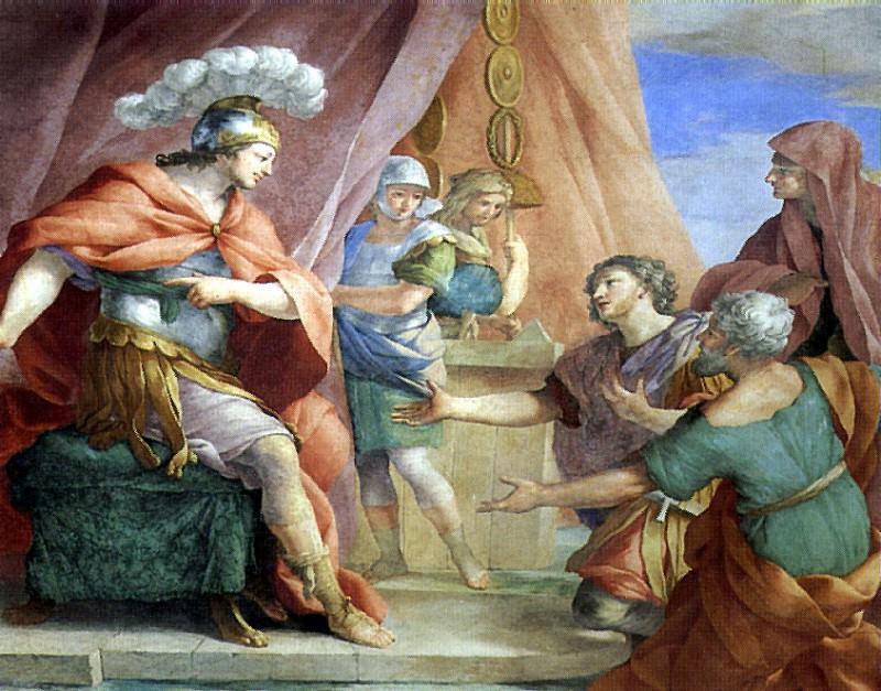 РОМАНЕЛЛИ ДЖОВАННИ ФРАНЧЕСКО - Великодушие Сципиона (фрагменты).. Louvre (Paris)