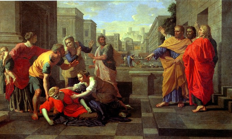 ПУССЕН НИКОЛА - Смерть Сарры.. Louvre (Paris)
