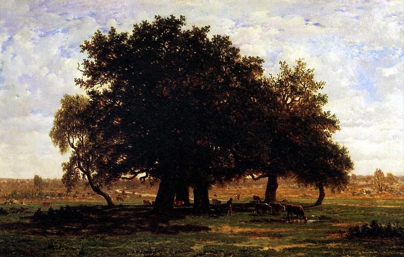 РУССО ТЕОДОР - Группа дубов в лесу Фонтенбло.. Louvre (Paris)