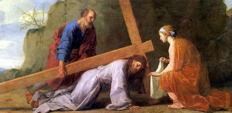 ЛЕСЮЭР ЭСТАШ - Несение креста.. Louvre (Paris)