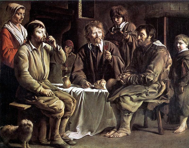 ЛЕНЕН ЛУИ - Крестьянская трапеза, 1642.. Louvre (Paris)