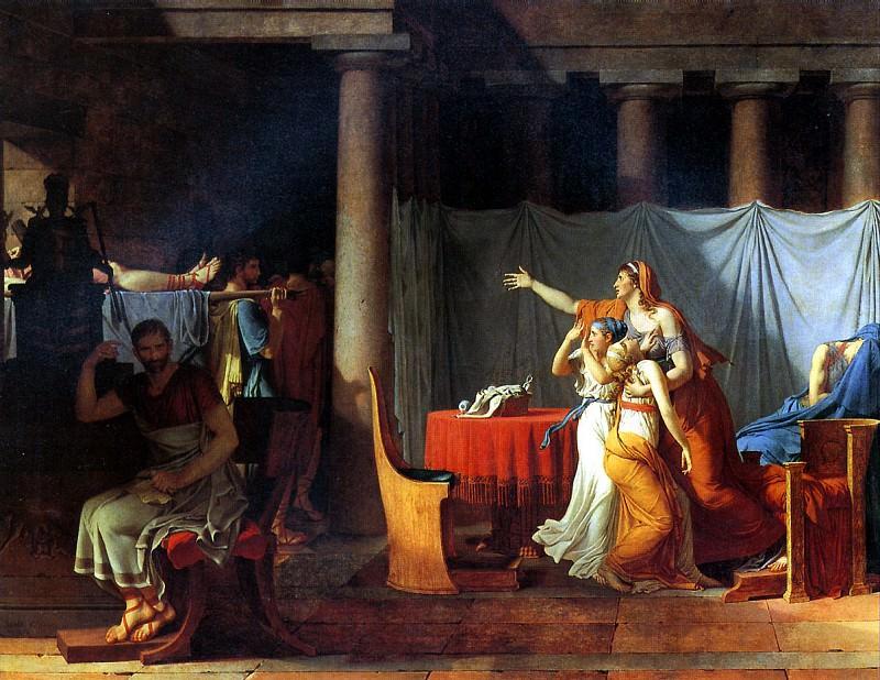 ДАВИД ЖАК ЛУИ - Ликторы приносят Бруту тела его сыновей, 1789.. Louvre (Paris)