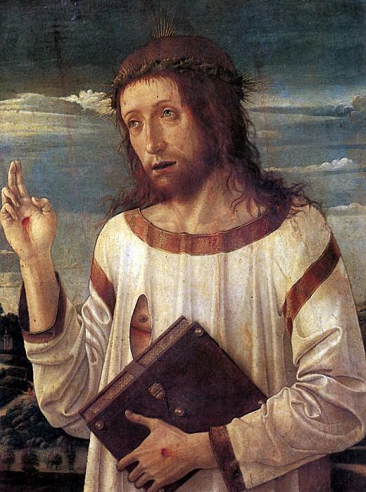 БЕЛЛИНИ ДЖОВАННИ - Благословляющий Христос, ок. 1460.. Louvre (Paris)