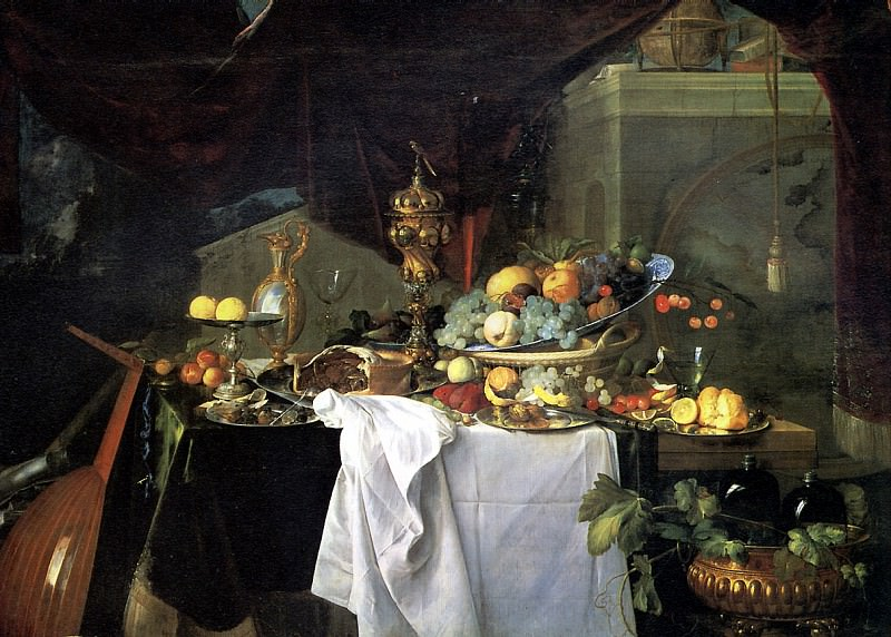 ДЕ ХЕМ ЯН ДАВИДС - Десерт, 1640.. Louvre (Paris)