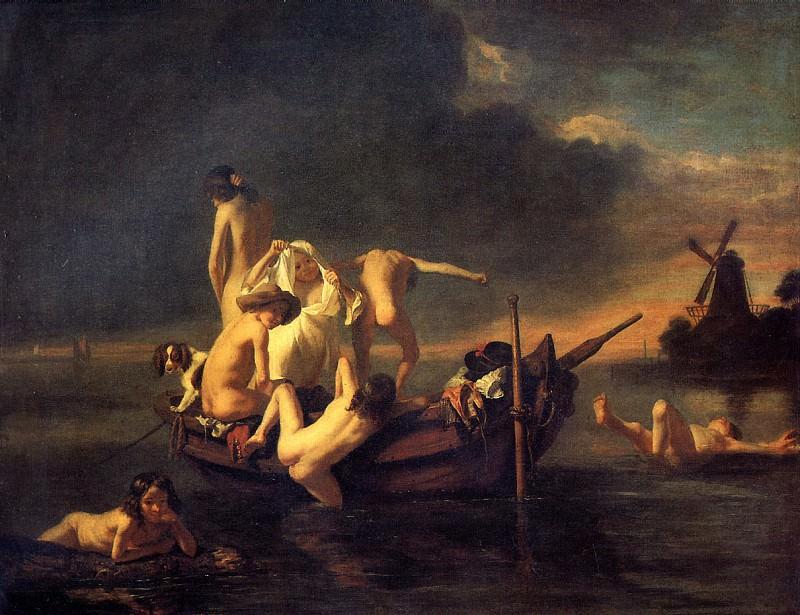 MAC НИКОЛАС (предполагаемый автор) - Купание мальчиков.. Лувр (Париж)