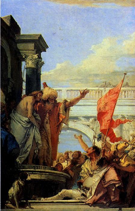 """ТЬЕПОЛО ДЖОВАННИ БАТТИСТА - Христос перед народом (""""Се человек).. Louvre (Paris)"""