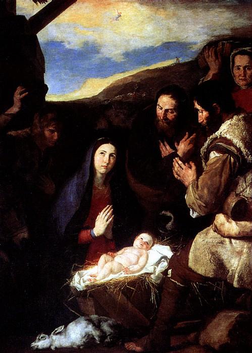 РИБЕРА ХУСЕПЕ ДЕ - Поклонение пастухов, 1650.. Louvre (Paris)
