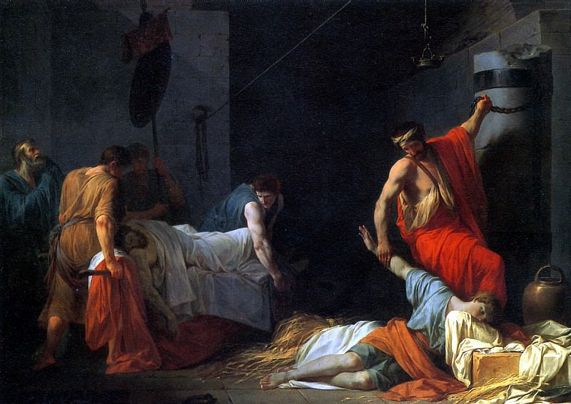 ПЕЙРОН ЖАН ФРАНСУА ПЬЕР - Погребение Мильтиада, 1782.. Louvre (Paris)