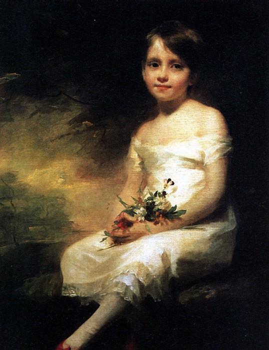 РЕБЕРН - Маленькая девочка с цветами.. Louvre (Paris)