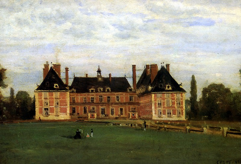 КОРО ЖАН БАТИСТ КАМИЛЬ - Росни, замок герцогини Беррийской, 1840.. Louvre (Paris)