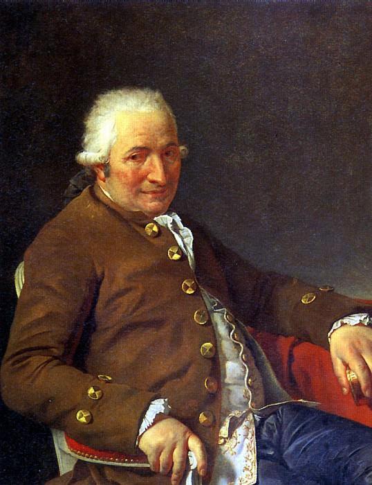 ДАВИД ЖАК ЛУИ - Шарль Пьер Пекуль, подрядчик королевских зданий, тесть художника, 1784.. Louvre (Paris)