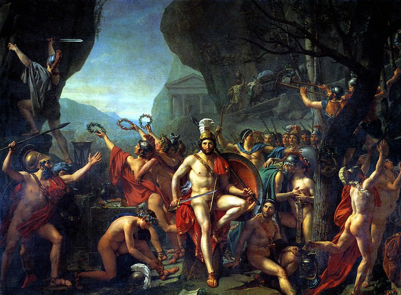 ДАВИД ЖАК ЛУИ - Леонид при Фермопилах, 1814.. Louvre (Paris)