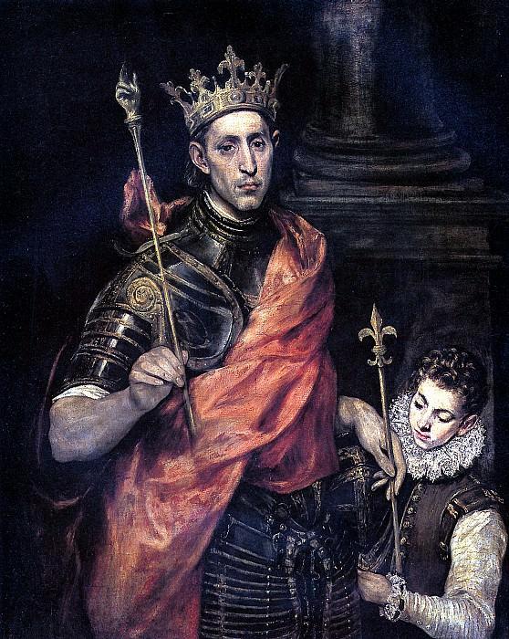 ТЕОТОКОПУЛИ ДОМЕНИКО, ПРОЗВАННЫЙ ЭЛЬ ГРЕКО - Св. Людовик, король Франции, и паж.. Louvre (Paris)