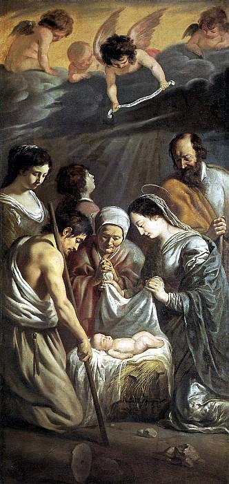 ЛЕНЕН ЛУИ И ЛЕНЕН МАТЬЁ - Поклонение пастухов, 1630-1632.. Лувр (Париж)