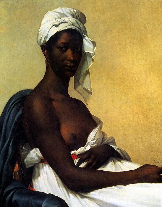 БЕНУА МАРИ ГИЙЕМИН - Портрет негритянки.. Louvre (Paris)