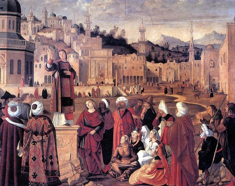 КАРПАЧЧО ВИТТОРЕ - Св. Стефан, проповедующий в Иерусалиме.. Louvre (Paris)