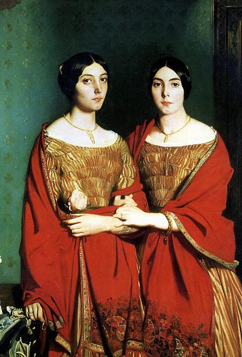 ШАССЕРИО ТЕОДОР - Две сестры, 1843.. Louvre (Paris)