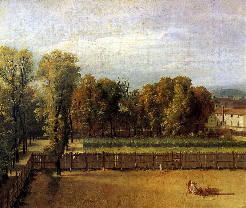 ДАВИД ЖАК ЛУИ - Вид сада в Люксембургском дворце, 1794.. Louvre (Paris)