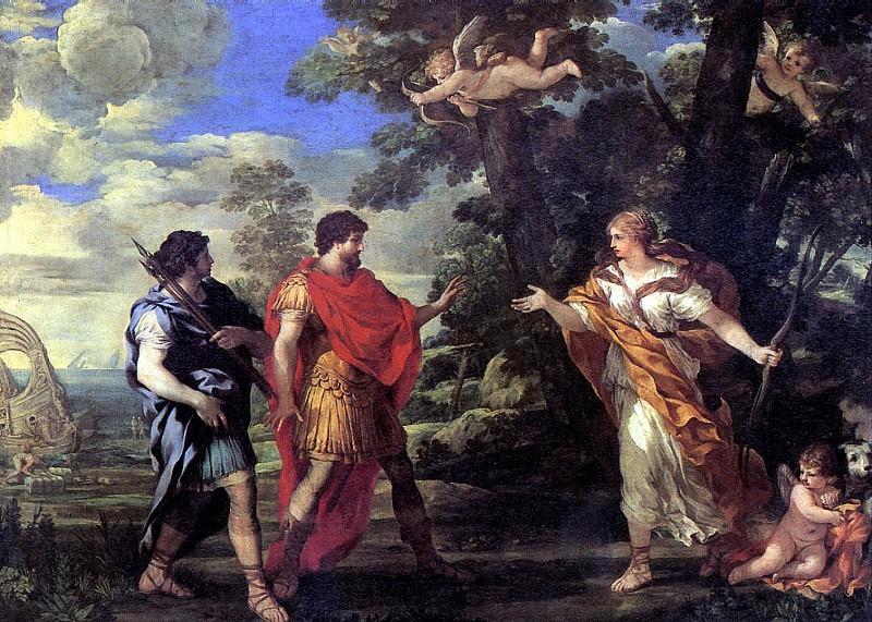 КОРТОНА ПЬЕТРО ДА - Венера является Энею в образе богини охоты.. Louvre (Paris)