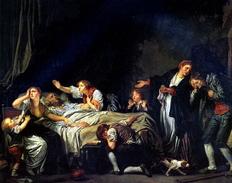 ГРЁЗ ЖАН БАТИСТ - Наказание сыновней неблагодарности.. Louvre (Paris)