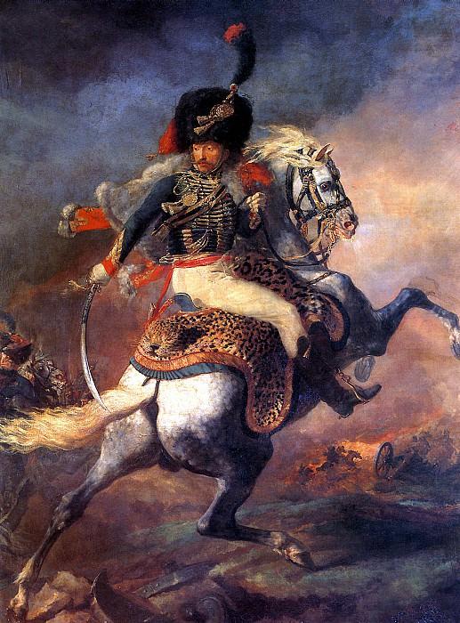 ЖЕРИКО ТЕОДОР - Офицер конных егерей императорской гвардии, идущий в атаку.. Louvre (Paris)