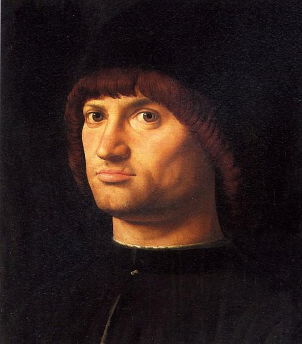 МЕССИНА АНТОНЕЛЛО ДА - Мужской портрет, 1475.. Louvre (Paris)
