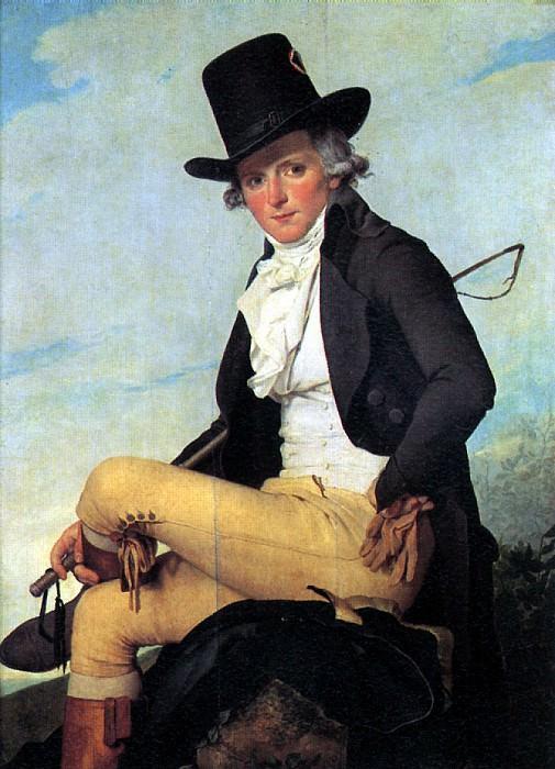 ДАВИД ЖАК ЛУИ - Пьер Сериза, шурин художника.. Louvre (Paris)