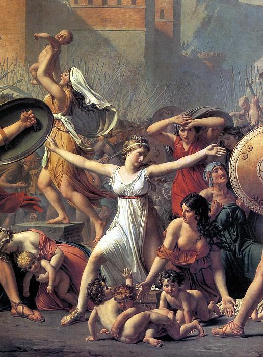 ДАВИД ЖАК ЛУИ - Сабинянки, останавливающие сражение между римлянами и сабинянами (фрагмент).. Louvre (Paris)
