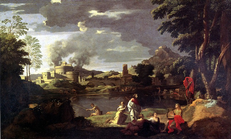 ПУССЕН НИКОЛА - Орфей и Эвридика.. Louvre (Paris)