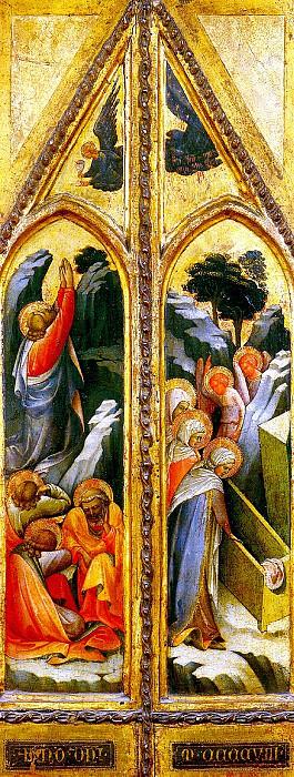 МОНАКО ЛОРЕНЦО - Христос в Гефсиманском саду; Святые жены у гроба.. Лувр (Париж)
