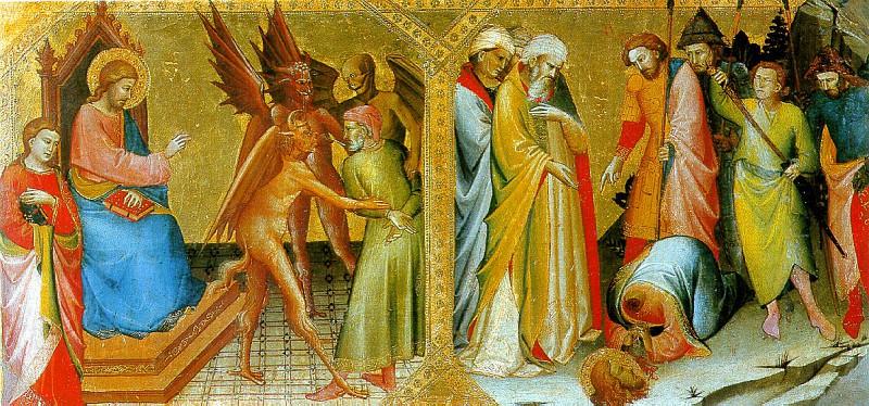 МОНАКО ЛОРЕНЦО - Встреча святых Иакова Старшего и Гермогена.. Louvre (Paris)
