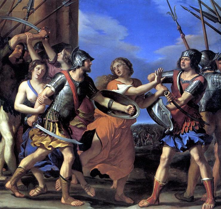 ГВЕРЧИНО - Герсилия, разнимающая Ромула и Тита Тация, ок. 1645.. Louvre (Paris)