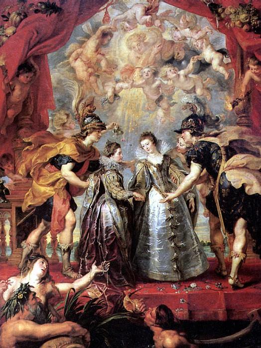 РУБЕНС ПИТЕР ПАУЭЛ - Обмен между принцессами.. Louvre (Paris)