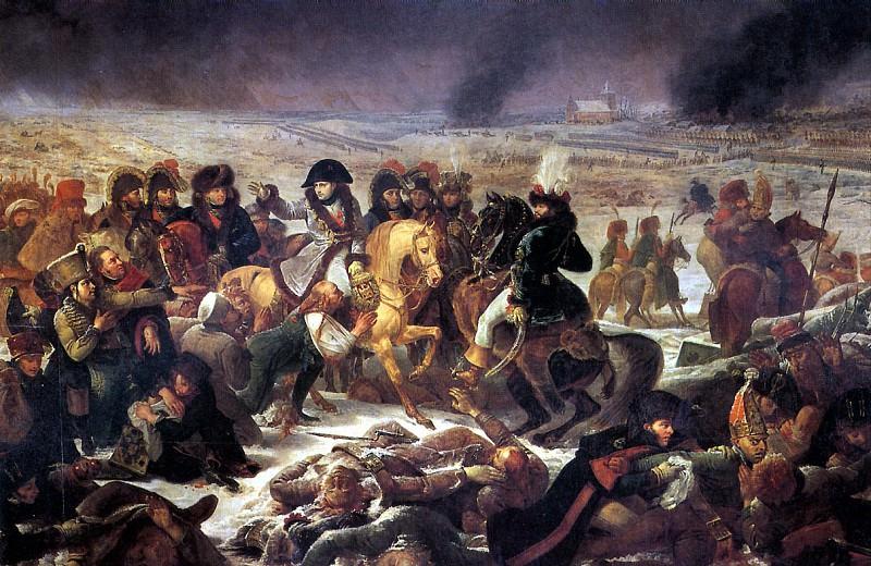 ГРО АНТУАН ЖАН - Наполеон в битве под Эйлау 9 февраля 1807 г.. Лувр (Париж)