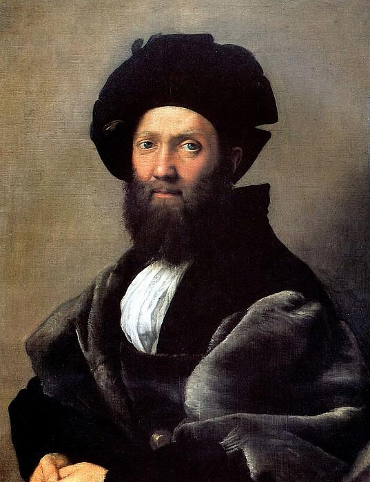 РАФАЭЛЬ CAHTИ, ПРОЗВАННЫЙ РАФАЭЛЬ - Бальдассаре Кастильоне, до 1516.. Лувр (Париж)