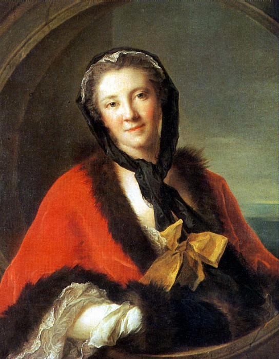 НАТЬЕ ЖАН МАРК - Графиня Тессэн, жена шведского посланника в Париже, 1741.. Louvre (Paris)