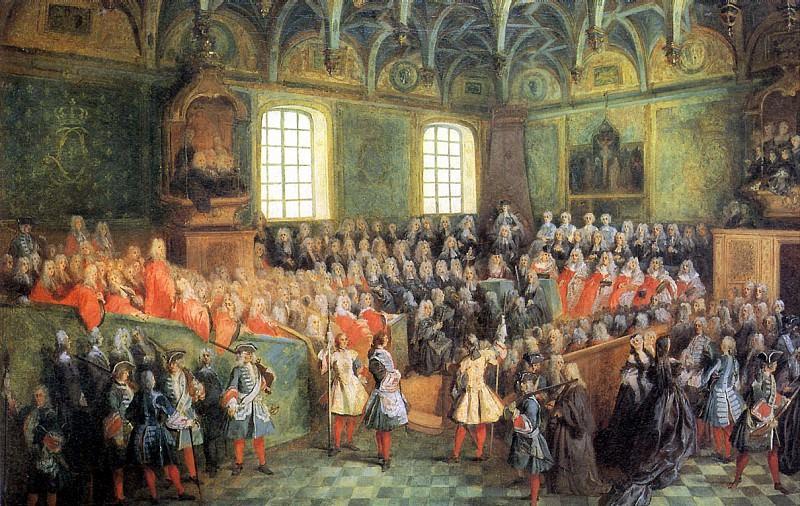 ЛАНКРЕ НИКОЛА - Место Правосудия в Парижском парламенте (1723), ок. 1724.. Лувр (Париж)