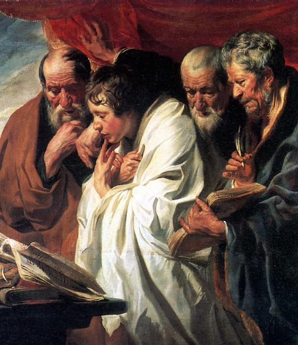 ЙОРДАНС ЯКОБ - Четыре евангелиста.. Louvre (Paris)