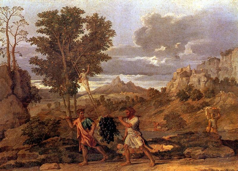 ПУССЕН НИКОЛА - Осень, или Дары земли обетованной.. Louvre (Paris)