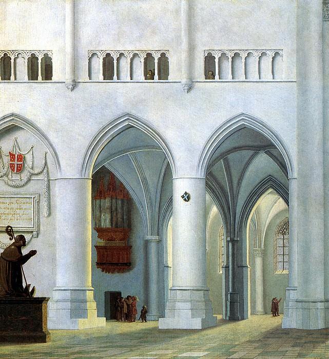 САНРЕДАМ ПИТЕР ЯНС - Интерьер церкви св. Бавона в Хаарлеме.. Louvre (Paris)