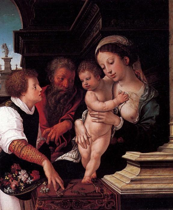 ВАН ОРЛЕЙ БАРЕНТ - Святое семейство, 1521.. Лувр (Париж)