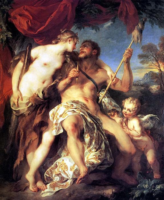 ЛЕМУАН ФРАНСУА - Геркулес и Омфала, 1724.. Лувр (Париж)