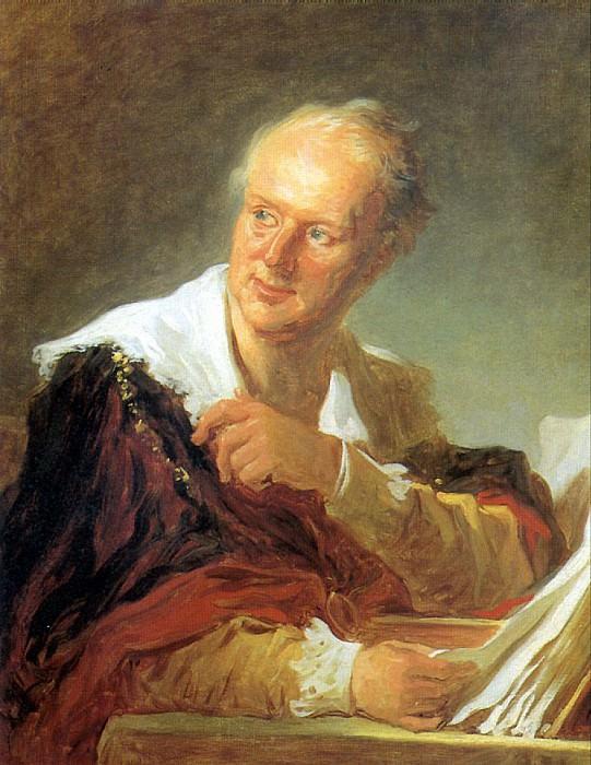 ФРАГОНАР ЖАН ОНОРЕ - Портрет Дидро.. Louvre (Paris)