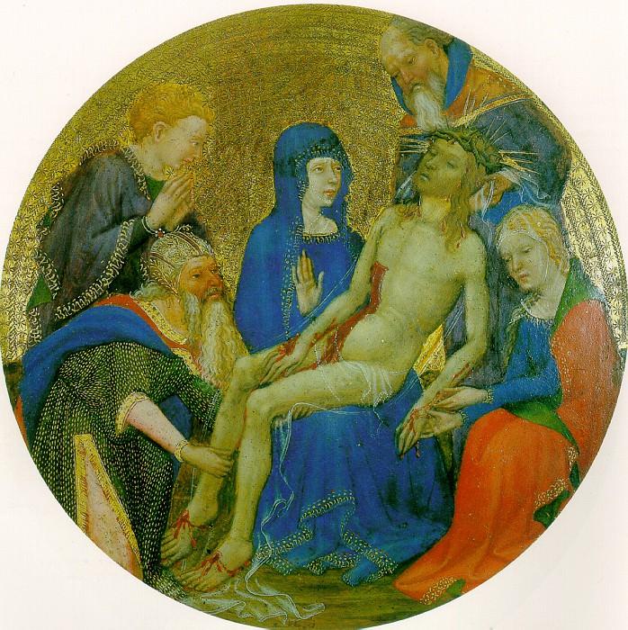 ПАРИЖСКАЯ ИЛИ ДИЖОНСКАЯ ШКОЛА - Малая круглая Пьета (Оплакивание Христа).. Louvre (Paris)