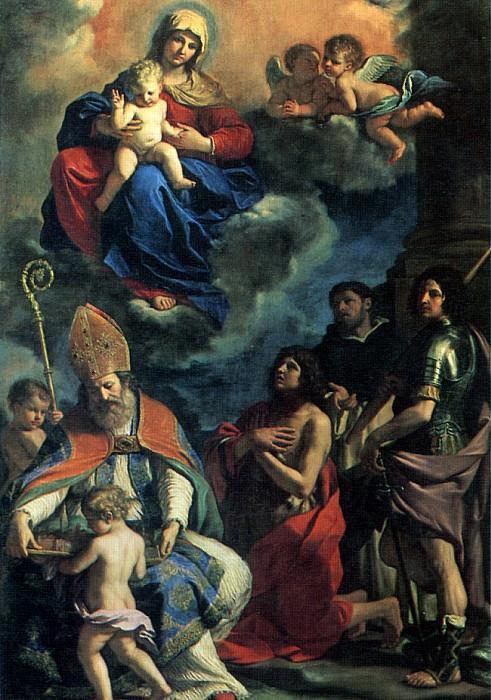 ГВЕРЧИНО - Мадонна с младенцем и святыми покровителями города Модены, 1651.. Louvre (Paris)