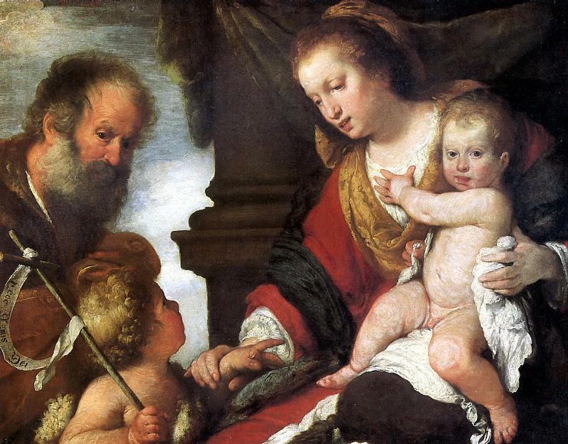 СТРОЦЦИ БЕРНАРДО - Святое семейство со св. Иоанном Крестителем.. Louvre (Paris)