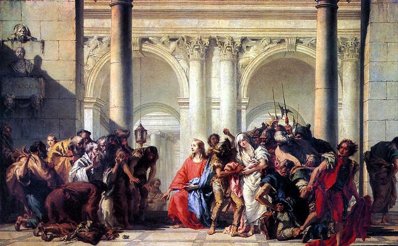 ТЬЕПОЛО ДЖОВАННИ ДОМЕНИКО - Христос и грешница.. Louvre (Paris)